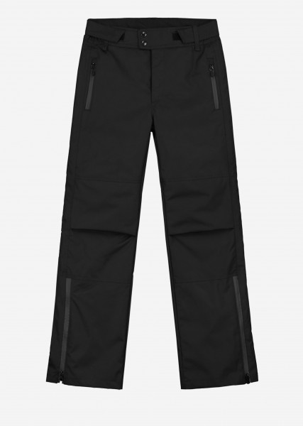Black ski pants with artwork