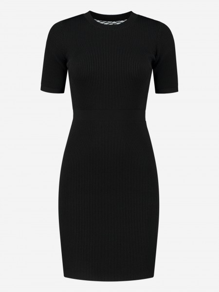 FITTED DRESS WITH MESH