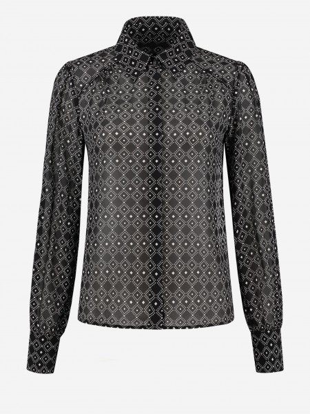 Blouse with graphic print
