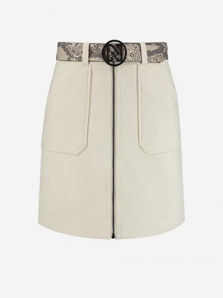Soft skirt with snake belt