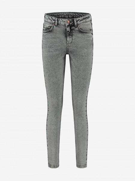Grey five pocket denim