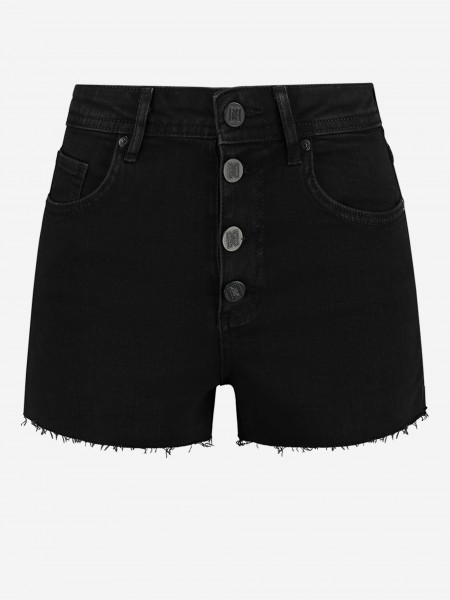 DENIM SHORTS WITH BUTTONS