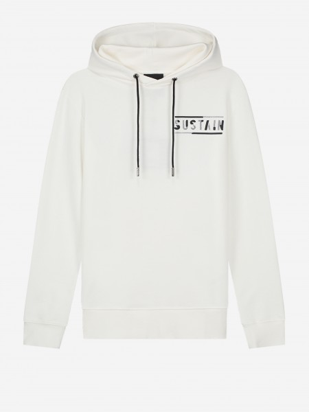 Off white hoodie with logo