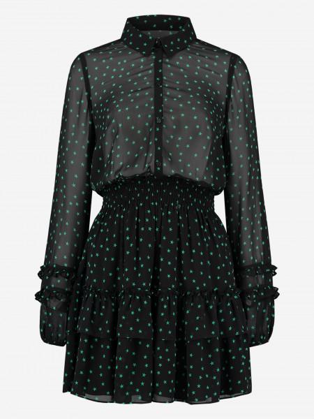 Dress with star print