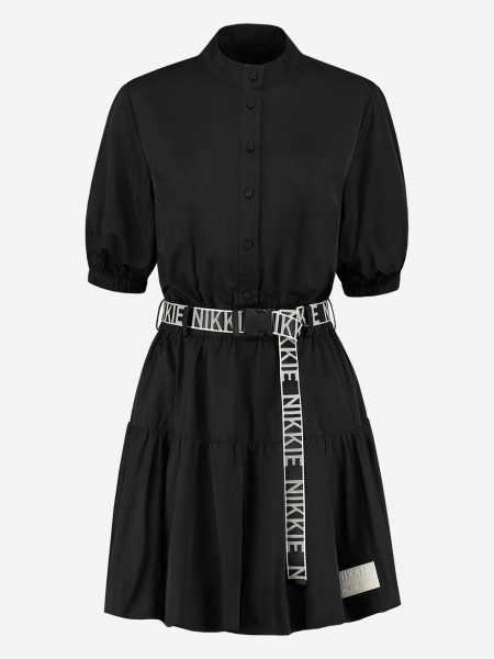 DRESS WITH BUTTONS AND NIKKIE BELT