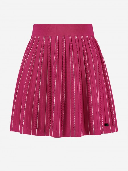 STRIPED SKIRT WITH RUFFLES