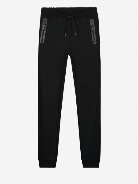 Plain black sweatpants