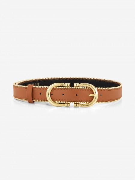 Vegan leather belt