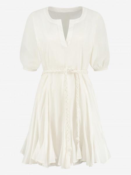 DRESS WITH BRAIDED BELT