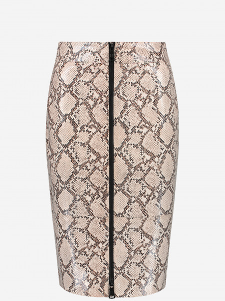 midi skirt with snake print