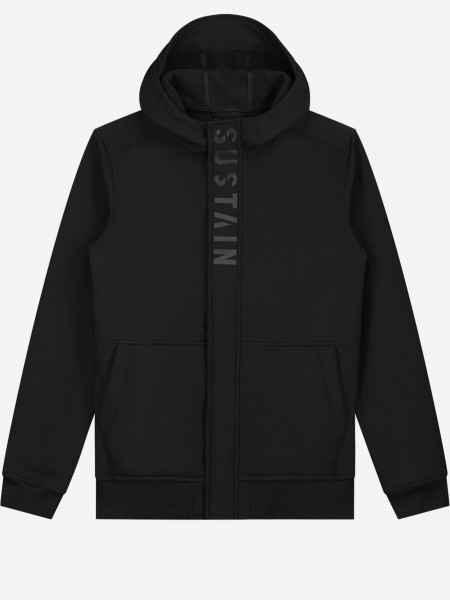 Hooded jacket from soft-shell