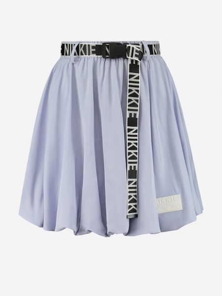 SKIRT WITH NIKKIE BELT AND LOGO PATCH