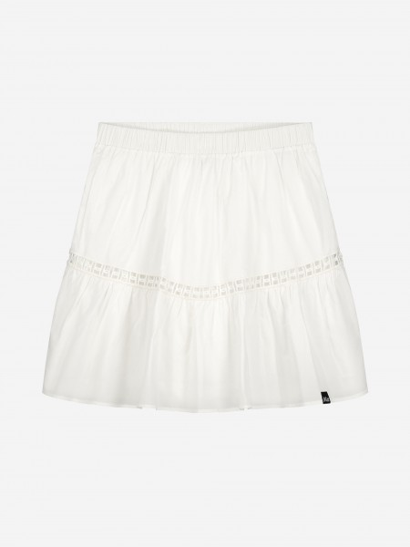 SKIRT WITH TRANSPARENT STRIPE