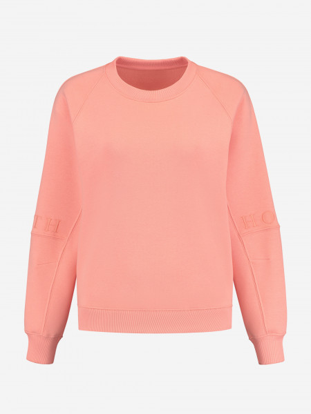 SWEATER WITH STITCHED LOGO SLEEVES