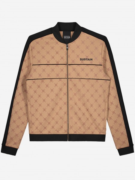Track jacket with all over S logo