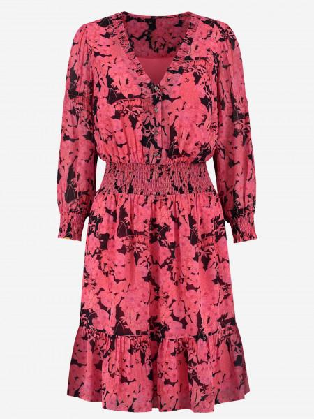 Short Dress with Flower Print