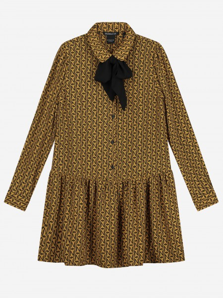 Gold dress with N print
