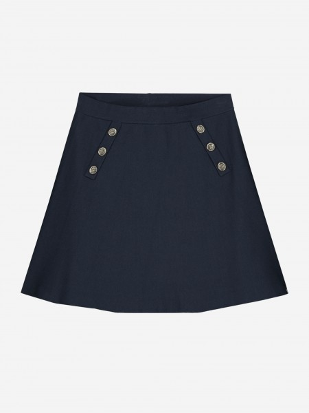Skirt with logo buttons