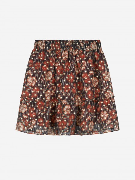 Skirt with all over flower print