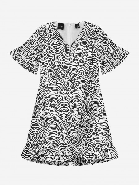 WRAP DRESS WITH ALL OVER ANIMAL PRINT
