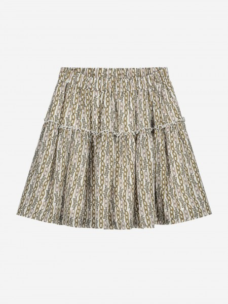Skirt with chain print