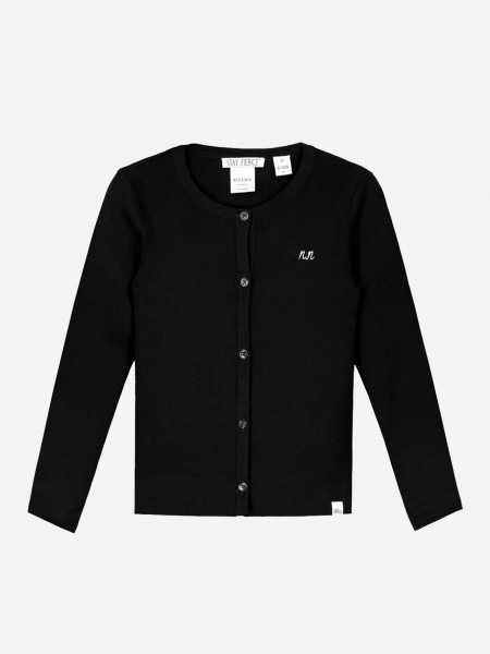 CARDIGAN WITH NN LOGO AND BUTTONS