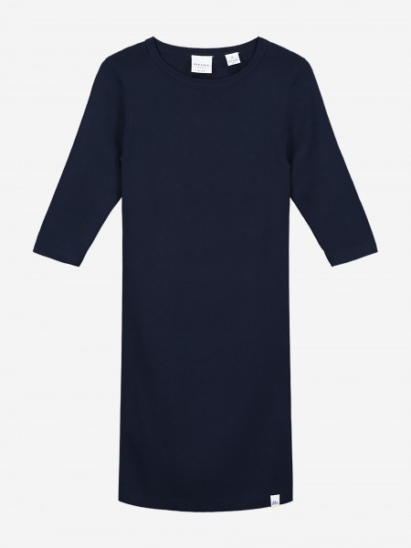 Navy dress with three quarter sleeves
