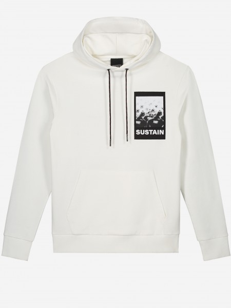 Plain hoodie with SUSTAIN artwork