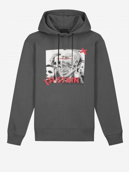 Loose fit hoodie with logo artwork