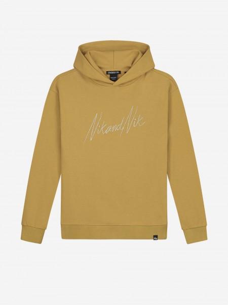 Gold hoodie with NIK&NIK embroidery