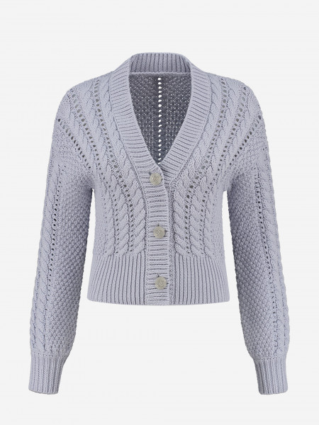 CROPPED CARDIGAN WITH BUTTONS