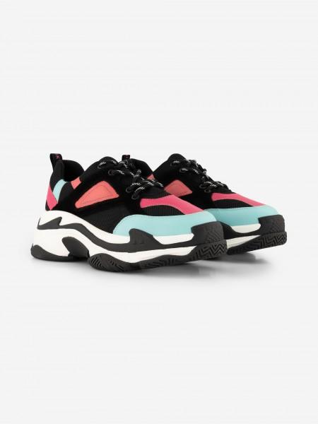 Chunky sneakers black/pink