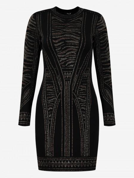Fitted Glitter print dress