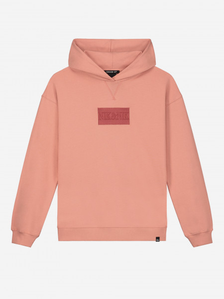 HOODIE WITH LOGO PATCH