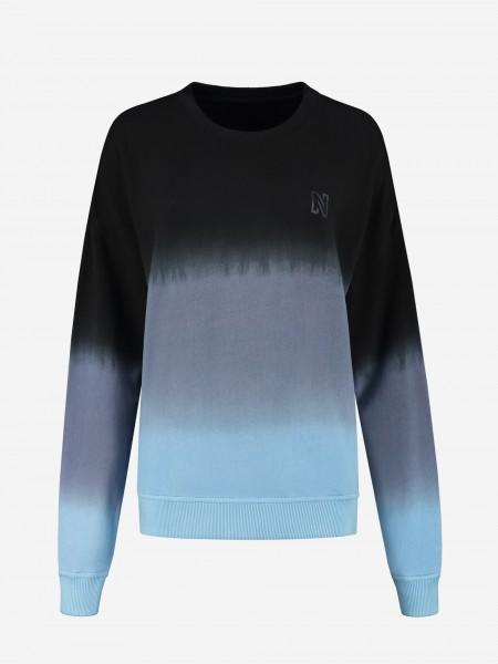 Blue dip dye sweater