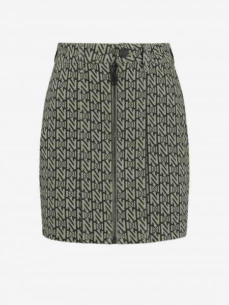 Skirt with all over N logo