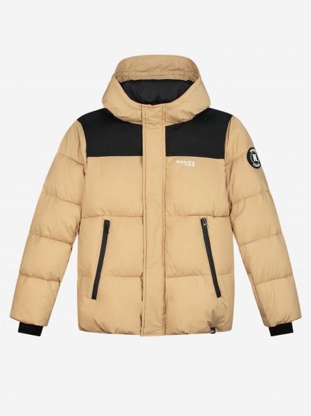 Beige ski jacket