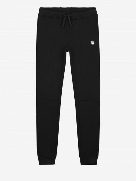Black sweatpants with logo artwork
