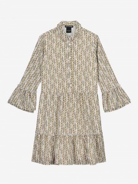 Dress with chain print