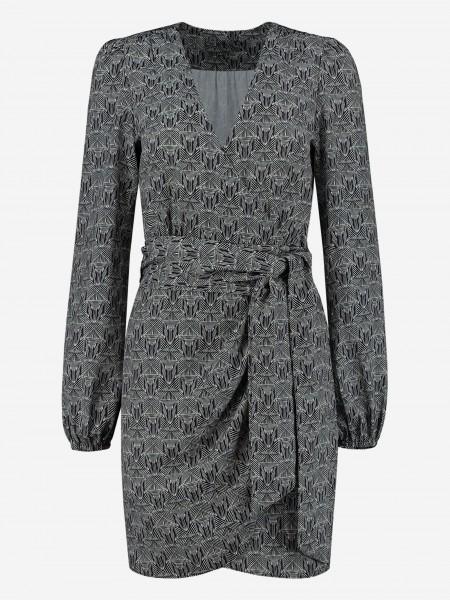 WRAP DRESS WITH PRINT