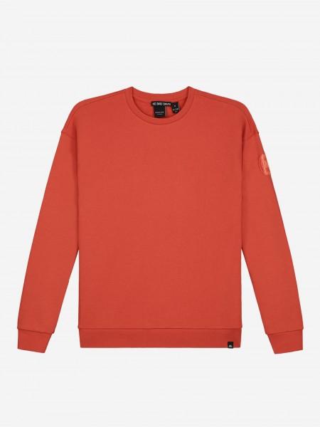 Sweater met logo patch