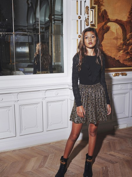 Tasha Text Skirt