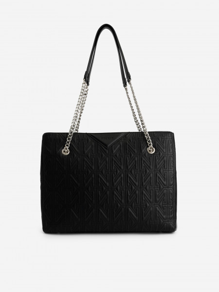 BAG WITH N STRUCTURE AND CHAIN STRAPS