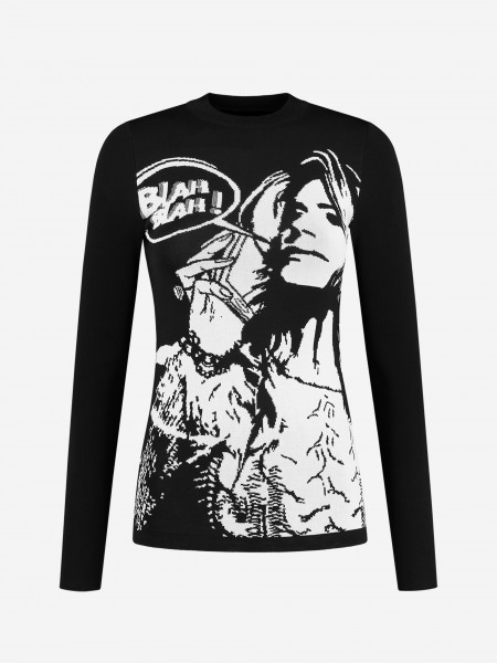Black long sleeve with NIKKIE artwork
