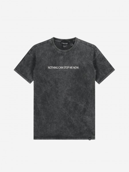 Stone washed t-shirt with artwork