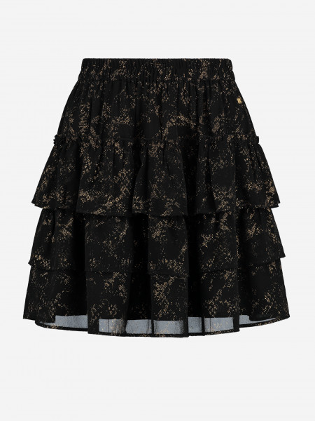 A-line mini skirt with gold