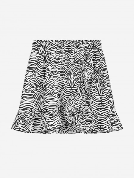 WRAP SKIRT WITH ALL OVER ZEBRA PRINT