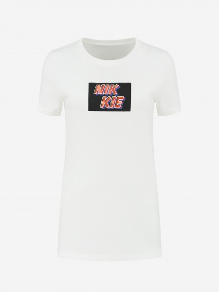 White T-shirt with NIKKIE artwork