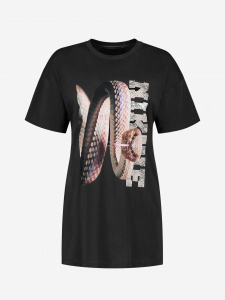 Long T-Shirt with snake artwork