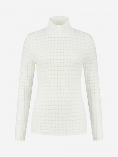Semi transparent top with long sleeves